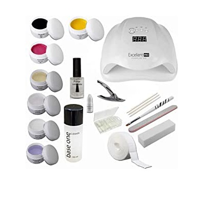Kit de introducción Starterset Nail con geles de colores